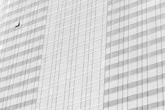 Отражение облака в высоких стеклянных офисах Голубое отражение s Стоковое Изображение RF