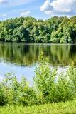 Отражение облаков в озере Стоковые Изображения RF