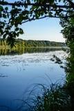 Отражение облаков в озере Стоковые Фотографии RF