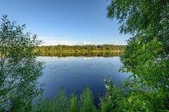Отражение облаков в озере Стоковая Фотография RF