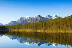 Отражение озера гор ледниковое Стоковое фото RF