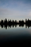 отражение озера мирное Стоковая Фотография