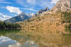 Отражение озера строк стоковое фото rf