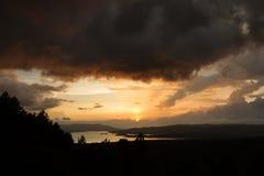 Отражение озера Arenal солнце Стоковые Фото