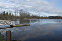 Отражение озера Cheadle Стоковое Изображение RF
