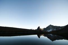 Отражение озера, Pemberton, Британская Колумбия Стоковая Фотография