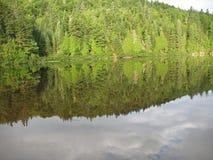 Отражение озера Wapizagonke Стоковая Фотография RF