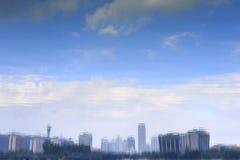 Отражение озера yuandang Стоковое Изображение RF