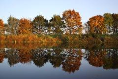 отражение осени стоковое фото rf