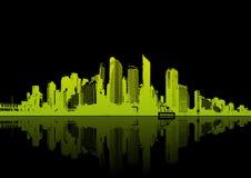 отражение панорамы города Стоковое Изображение RF