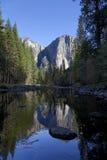 Отражение падения долины Yosemite Стоковое Изображение RF