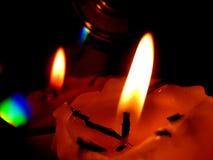 отражение пламени Стоковая Фотография