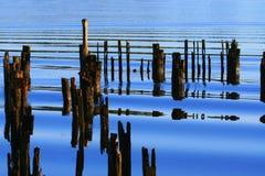 отражение пристани Стоковые Фото