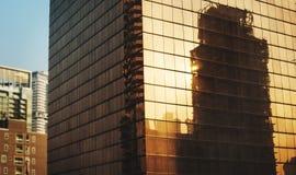 Отражение промышленного construcion на здании Стоковые Изображения