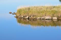 Отражение речного берега Стоковое Изображение RF