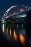 Отражение светов моста Стоковые Изображения RF