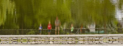 Отражение семьи стоковое фото