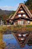 Отражение сельских домов Стоковые Изображения RF