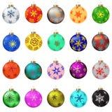 отражение собрания рождества baubles шариков Стоковое Изображение RF