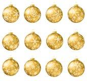 отражение собрания рождества baubles шариков Стоковая Фотография RF
