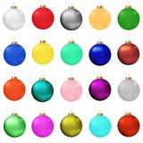 отражение собрания рождества baubles шариков Стоковые Изображения