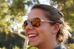 Отражение солнечных очков Стоковая Фотография