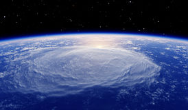 Отражение солнца в земной атмосфере Стоковое Фото