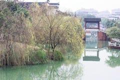 Отражение спектра озера-Qingyun Стоковая Фотография