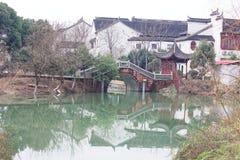 Отражение спектра озера-Qingyun Стоковые Изображения RF