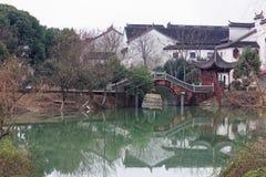 Отражение спектра озера-Qingyun Стоковое Изображение RF