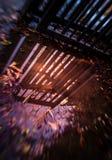 Отражение строба в лужице Стоковые Изображения RF