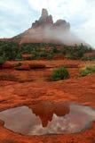 Отражение, утес колокола, Sedona, AZ Стоковые Изображения RF