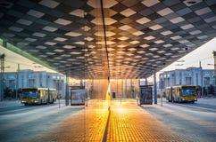 Отражение улицы в Вильнюсе Стоковое Изображение RF