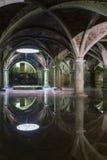 Отражение цистерны Manueline на el-Jadida, ориентир ориентире Марокко Стоковая Фотография RF