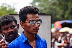 Отражение шествия Palki на ` s человека гуглит, Пуна, махарастра Стоковая Фотография