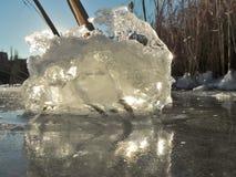 Отражение льда стоковое фото