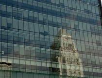отражение los здание муниципалитет angeles Стоковое Изображение RF