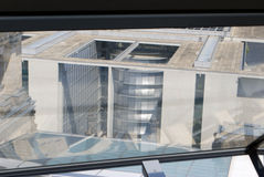 Отражения внутри куполка Reichstag Стоковая Фотография