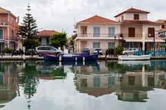 Отражения в воде Греция lefkada Стоковое Изображение