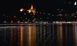 Отражения в озере в ночи стоковое фото rf