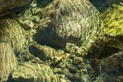 Отражения в потоке горы Adirondack Стоковое фото RF