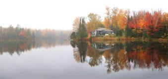 Отражения дерева осени в озере стоковая фотография rf