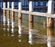 Отражения деревянных опор Стоковые Фотографии RF