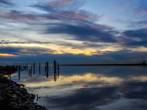 Отражения захода солнца Стоковое Изображение