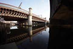 Отражения и мосты воды Стоковая Фотография RF