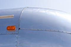 Отражения на алюминиевом трейлере Стоковая Фотография RF