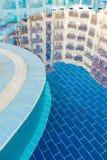 Отражения на бассейне Стоковая Фотография