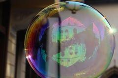 Отражения на пузыре мыла Стоковая Фотография RF
