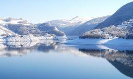 Отражения озера зим Стоковое Изображение