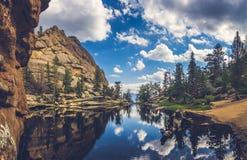Отражения озера самоцвет Стоковые Фотографии RF